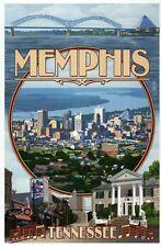 Memphis Tennessee Montage, Elvis Graceland, Beale Street etc. -- Modern Postcard