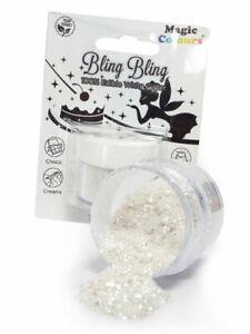 MAGIC COLOURS BLING BLING EDIBLE GLITTER (SNOW WHITE) 10ML