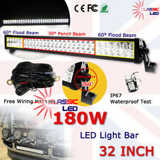 180w LED Work Light bar Flood Spot Beam Offroad SUV Jeep Wrangler 9-32v 17100LM