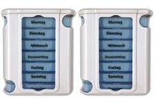 2er Set Pillendose für 7 Tage inkl. Tablettenteiler | Pillendose Medikamentenbox