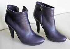 Bottega Veneta purple leather ankle boots 6.5 UK size