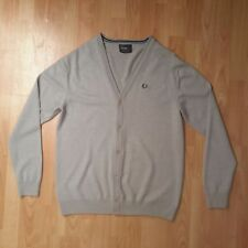 Fred Perry - Grey Cardigan - XLarge - 100% Merino Wool - Very Good Condition