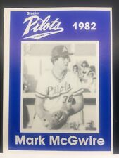 1982 Glacier Pilots Card # Mark McGwire Minor League Card OAKLAND  A13206 - Mint