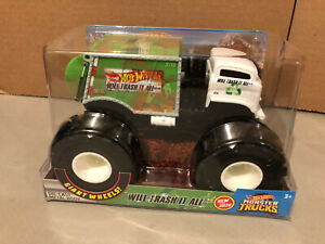 Hot Wheels 2020 Monster Jam Will Trash It All Garbage Truck 1:24 Sealed