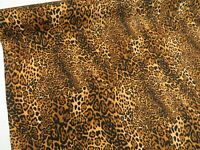 LEOPARD PRINT Animal PURE COTTON fabric dressmaking craft patchwork bunting