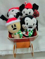 2017 Hallmark Itty Bittys Mickey & Friends Holiday Collector Set of 4 Minnie B33