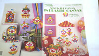 LEISURE ARTS SEND IN THE CLOWNS IN PLASTIC CANVAS PATTERN LEAFLET #1110