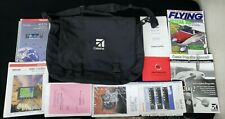 Cessna Pilot's Bag Backpack Vintage with Pilot's Guide Manuals & More Lot Bundle