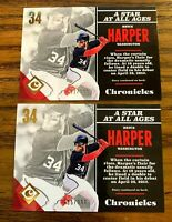 2017 Panini Chronicles #1 Bryce Harper Gold /999 - Nationals (2)