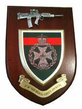 1 RGJ Royal Green Jackets Regiment Military Wall Plaque + Pewter SA80