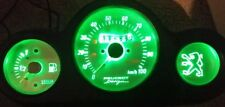 GREEN Peugeot speedfight 1&2 led dash clock conversion kit lightenUPgrade