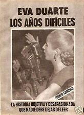 EVA PERON 8 Clippings Argentina 1980