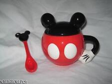 DISNEY~MICKEY MOUSE ICON EARS~CERAMIC TEA CUP~COCOA MUG~LID~SPOON~NIP