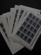 LIECHTENSTEIN : 1958-59. Scott #326-34 Full Sheets of 20. VF, Mint NH. Cat $850.