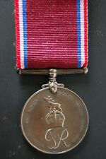 Solid Bronze Newfoundland Volunteers War Service Medal