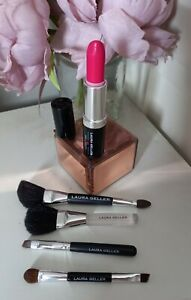 Laura Geller Color Enriched Lipstick  wild orchid Full Size with  5 x Brushes