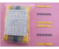 1/4W Metal Film Resistor Assorted Kit 1% 112ValuesX10pcs 0.25W resistor kit DIP
