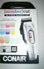 CONAIR NUMBER CUT Home HAIR CLIPPER Trimmer SET 20 PIECE with Taper