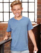 Boys' No Pattern V Neck Short Sleeve Sleeve T-Shirts & Tops (2-16 Years)