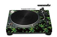 Skin Decal Sticker Wrap for Technics Quartz SL Turntable Pro Audio Mixer WEEDS K