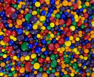 90 COE Bullseye Glass Fusing Dots Frit Balls Bold Colors Rainbow Mix