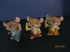 Homco Vtg 3 Mice-#560-Corn Carrot And Cheese