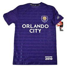 adidas MLS Mens Orlando City SC Soccer Club Climalite Jersey Shirt NWT $40 S, L