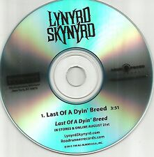 LYNYRD SKYNYRD Last Of a Dyin Breed 2012 USA TST PRESS PROMO DJ CD Single MINT