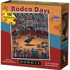 """NEW """"Rodeo Days"""" Jigsaw Puzzle by Artist Eric Dowdle - 100 PCS, 16"""" x 20"""""""