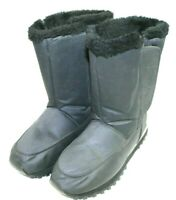 CRATER womens winter snow boots size 9 M black fabric upper insulated vel stick