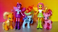 "5 G4 My Little Pony MLP Brushable 3"" Inch Rare Horse Bundle Lot 2010-11 FIM"