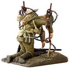 Britains World War,1. Weltkrieg, Britischer Soldat im Stacheldraht hängend,23060