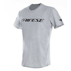 New Dainese T-Shirt Men's XXL Gray-Melange/Black #201896745-N42-XXL