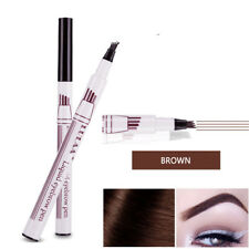 Eyebrow Tattoo Pen Liquid Brow Enhancer Dye Tint Pencil 4 Head Fork Tip NEWEST