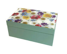 Gisela Graham Daisy Days Wooden Box Keepsake Chest Memories Jeweller Trinket