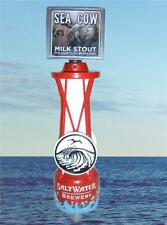 Rare Salt Water Brewery Beer Sea Cow Milk Stout Manatee Tap Handle Nautical Bouy