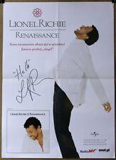 LIONEL RICHIE - Renaissance - Promo Polish Poster Signed