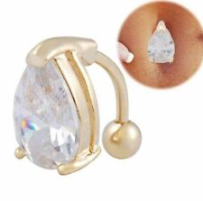 1 x Gold Pl Captive Bead Ball Ring CBR Eyebrow Eyebrow Ear GP 16g 8mm piercing B