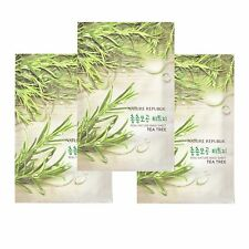 Nature Republic Real Nature Tea Tree Mask 23ml 3 pcs Soothe Radiant Skin