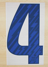 *10 / 11 - BARCELONA AWAY PLASTIC BLUE / NUMBER 4 = 250mm*