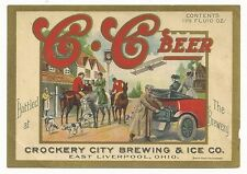 Pre-pro C-C Beer Label - East Liverpool, OH