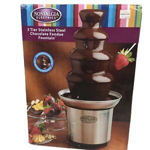 Nostalgia Electronics  4-Tier Stainless Steel Chocolate Fondue Fountain  CFF986