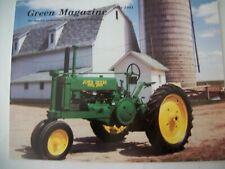 John Deere 1937 A tractor Green Magazine July 1991