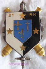 IN12951 - INSIGNE 21° Bataillon du Matériel, écu bleu, étoiles dorées, 2 pontets