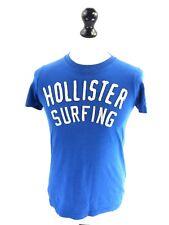 HOLLISTER Mens T-Shirt Top S Small Blue Cotton