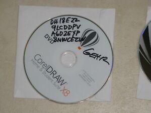 Corel Draw X8 Graphics Siute & CDR x4 Suite, CD install & external CD/DVD Drive