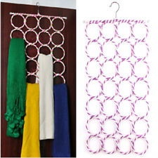 Multi Scarf Hanger Circle Holder Wardrobe Space Organizer Storage For Ties Belt