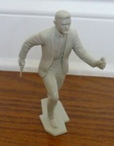 Napoleon Solo The Man From Uncle 6 inch Gray Plastic Figure, 1966 Marx Toys