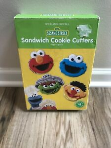 Williams-Sonoma Sesame Street Sandwich Cookie Cutter Set of 4 Elmo Ernie Oscar