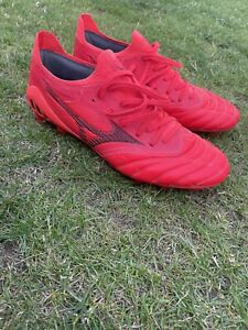 MIZUNO MORELIA NEO III 3 BETA ELITE FOOTBALL BOOTS UK 8 FG LEATHER RED